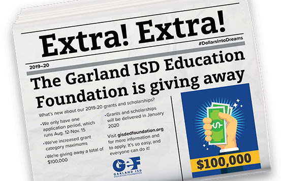 Image of Garland Education Foundation poster