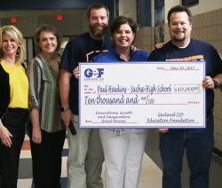 Paul Hawkins receives GEF grant check for $10,000