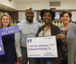 2017 Education Foundation Grant winner presented with check.