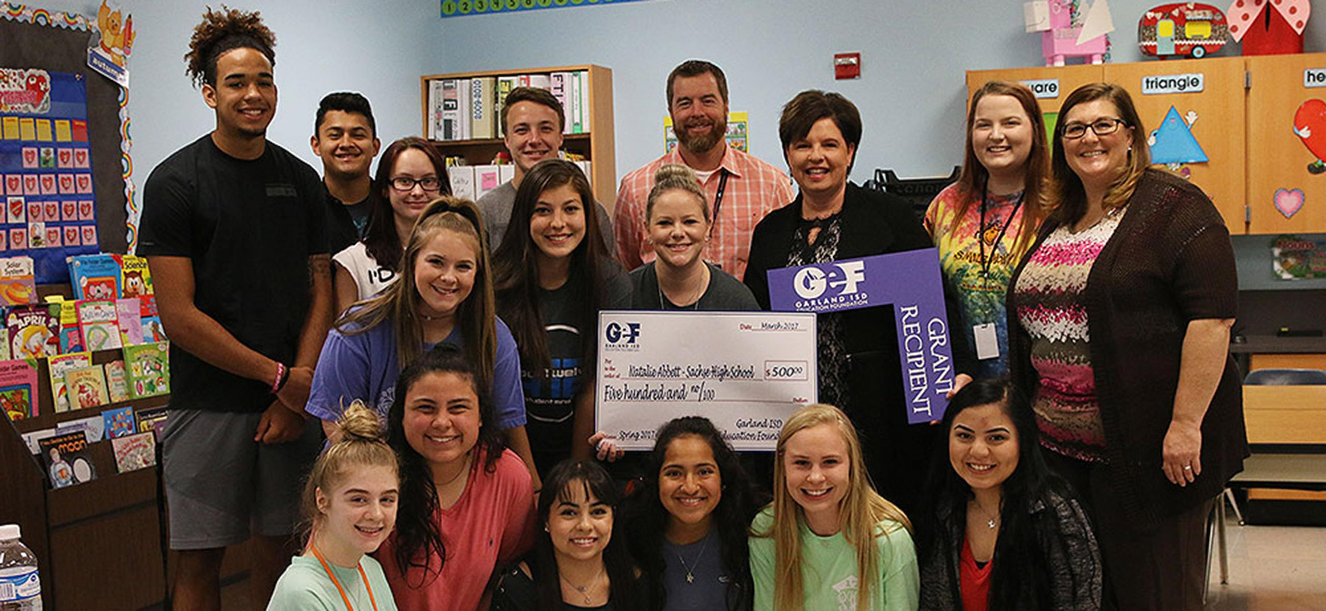 2016 Education Foundation Grant awarded to teacher and classroom