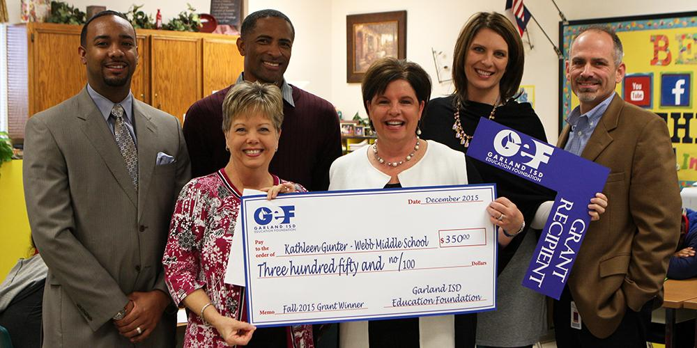 Fall 2015 Education Foundation Grant Winner from Webb middle school.